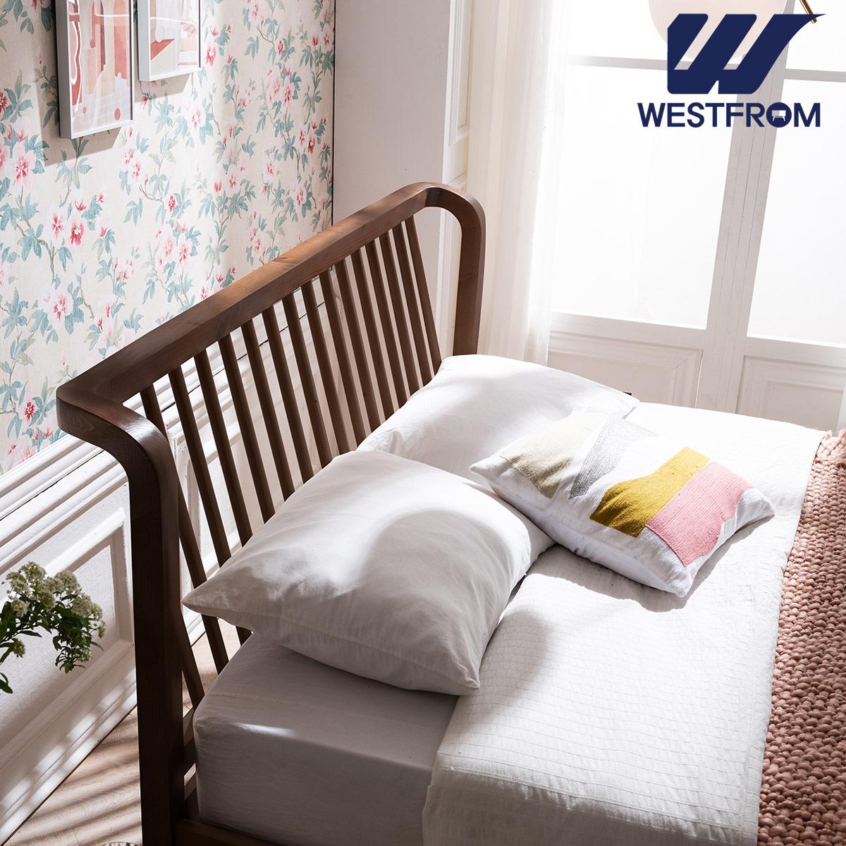 [웨스트프롬] 모던 NEW잉그리드) 원목 평상형 침대(퀸) / 프레임만