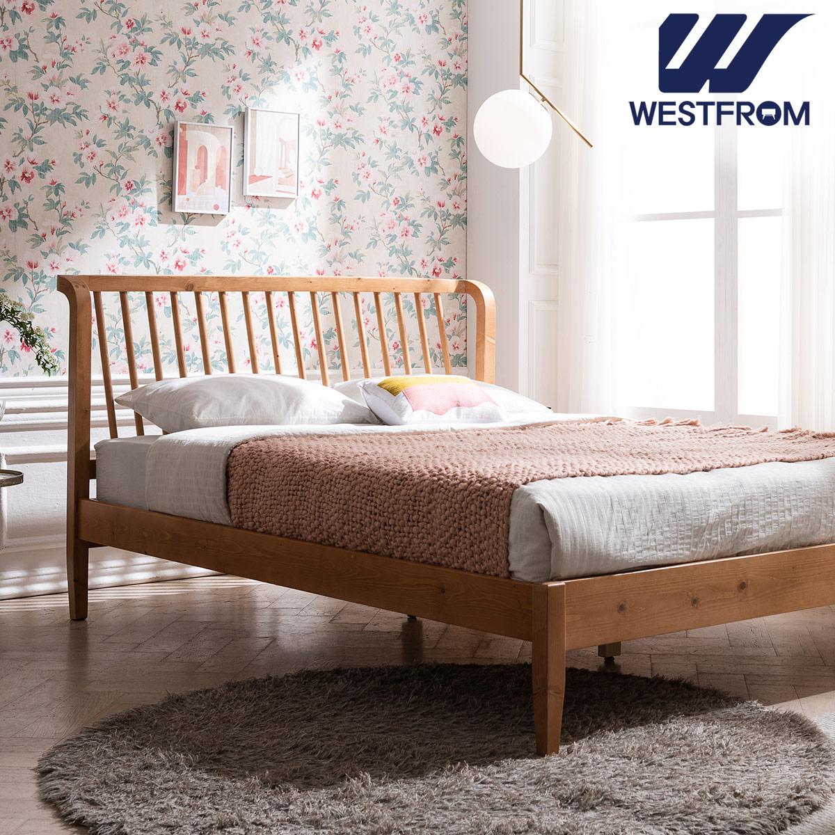 [웨스트프롬] 모던 NEW잉그리드) 원목 평상형 침대(퀸) / F3 QUEEN 매트리스