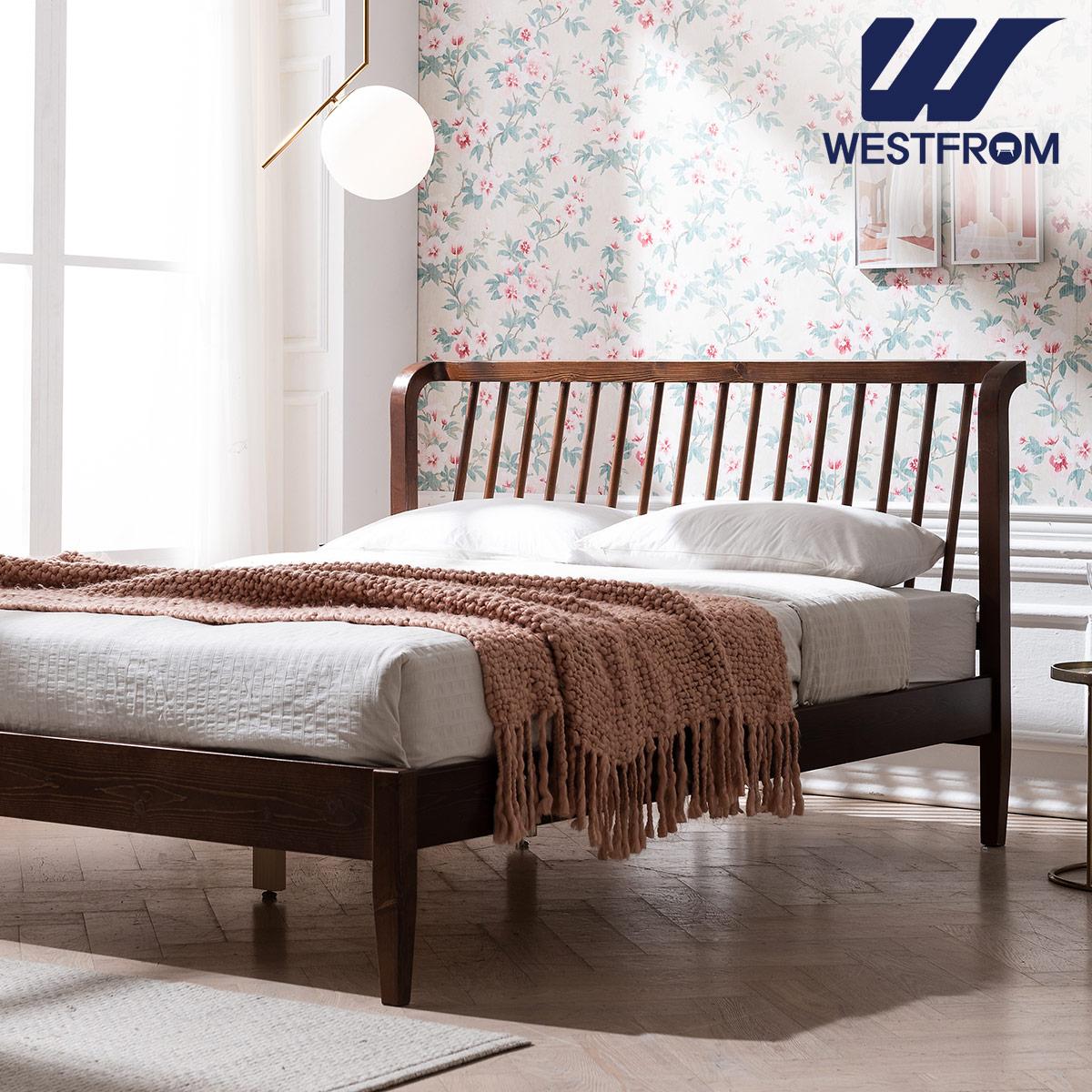 [웨스트프롬] 모던 NEW잉그리드) 원목 평상형 침대(퀸) / F11 QUEEN 매트리스