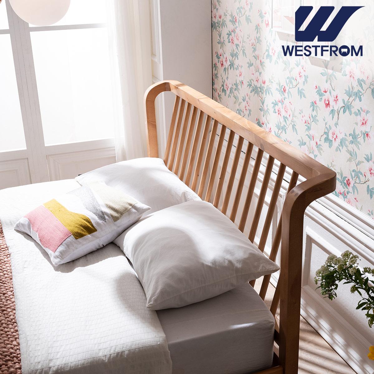 [웨스트프롬] 모던 NEW잉그리드) 원목 평상형 침대(퀸) / F17 QUEEN 매트리스