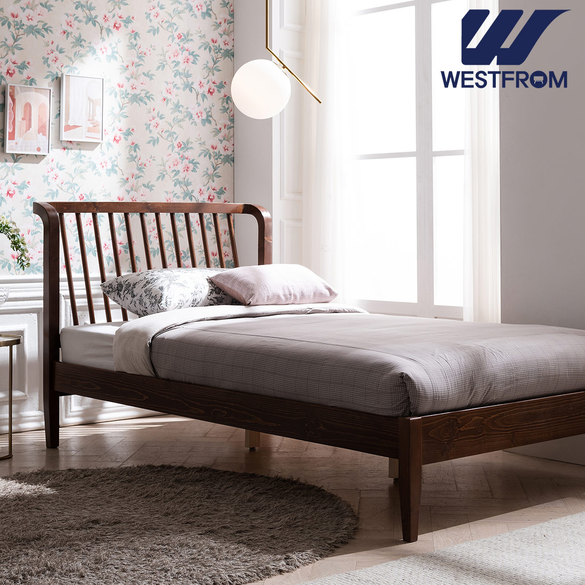 [웨스트프롬] 모던 NEW잉그리드) 원목 평상형 침대(SS) / F1 SS 매트리스