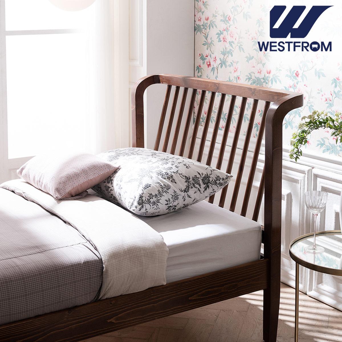 [웨스트프롬] 모던 NEW잉그리드) 원목 평상형 침대(SS) / F5 SS 매트리스