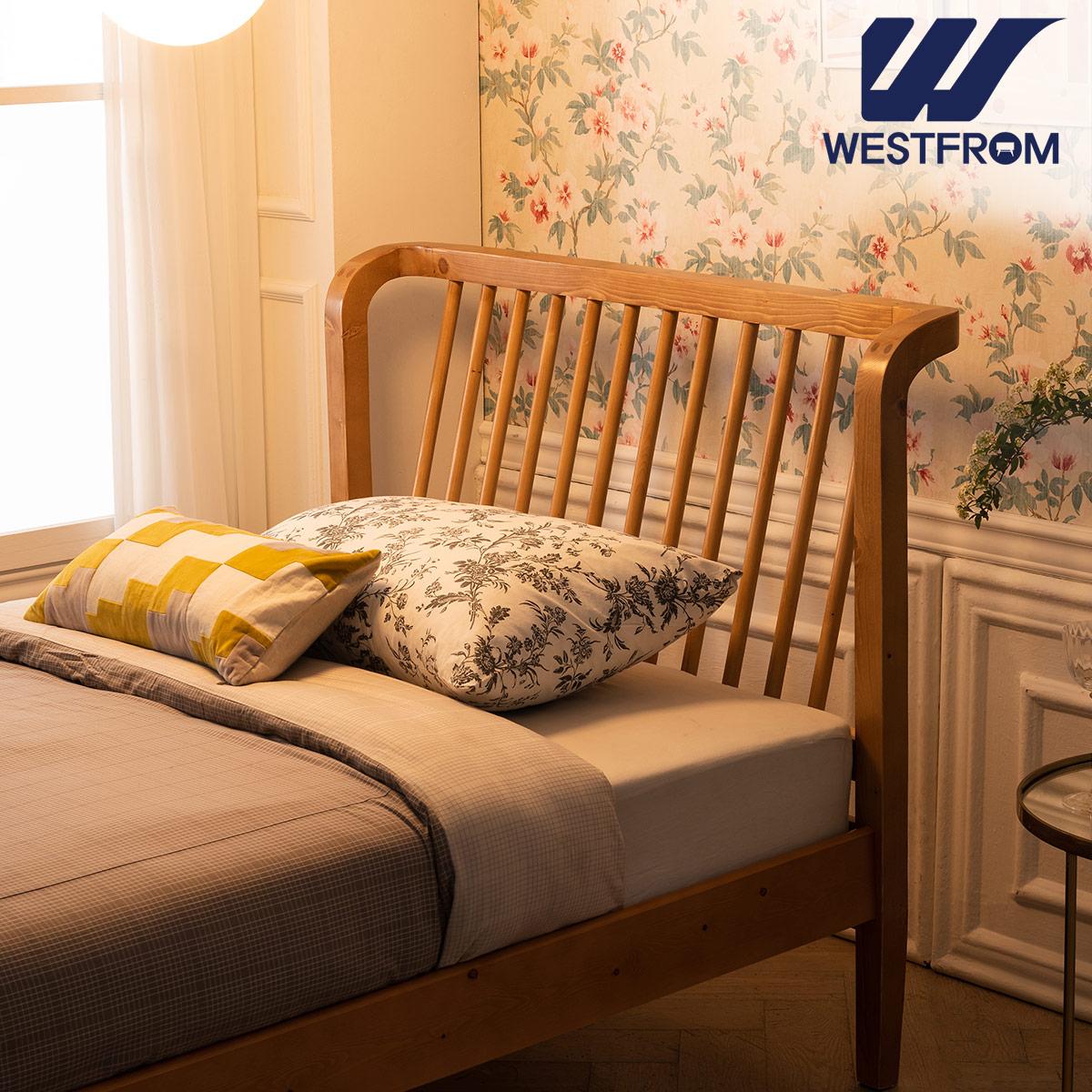 [웨스트프롬] 모던 NEW잉그리드) 원목 평상형 침대(SS) / F17 SS 매트리스