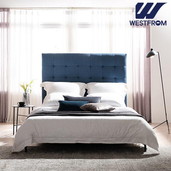 [웨스트프롬] New모던프라하) LED라이팅 네이비 TWO 매트리스 침대(퀸,킹 공용) / 프레임만