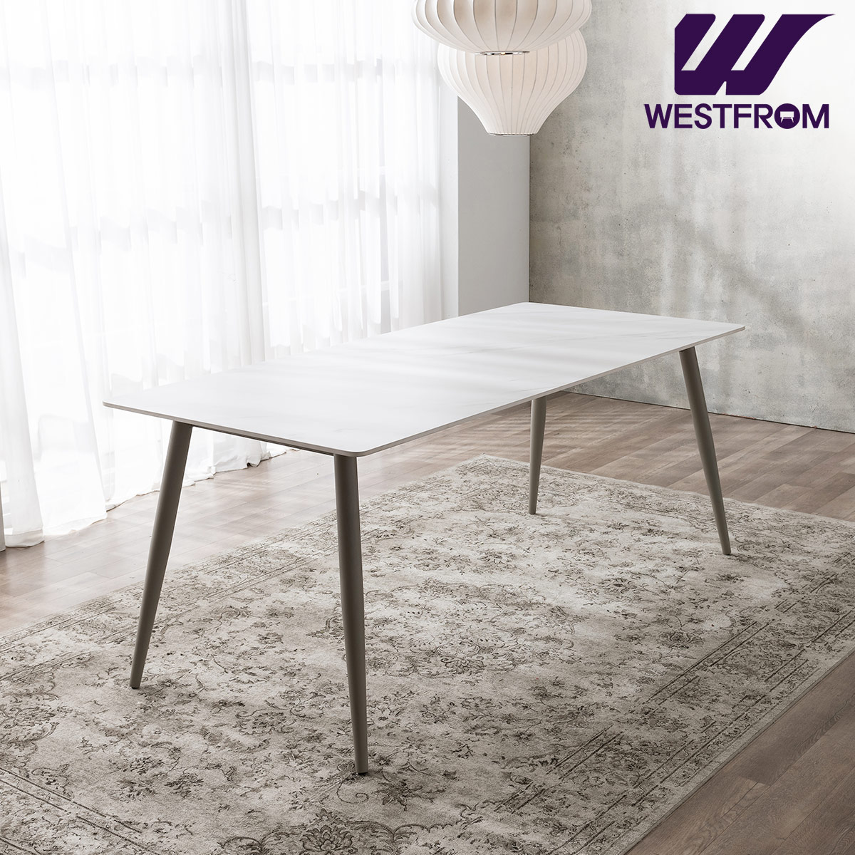 [웨스트프롬] 라클리 4인 포세린 세라믹 식탁 / 테이블만