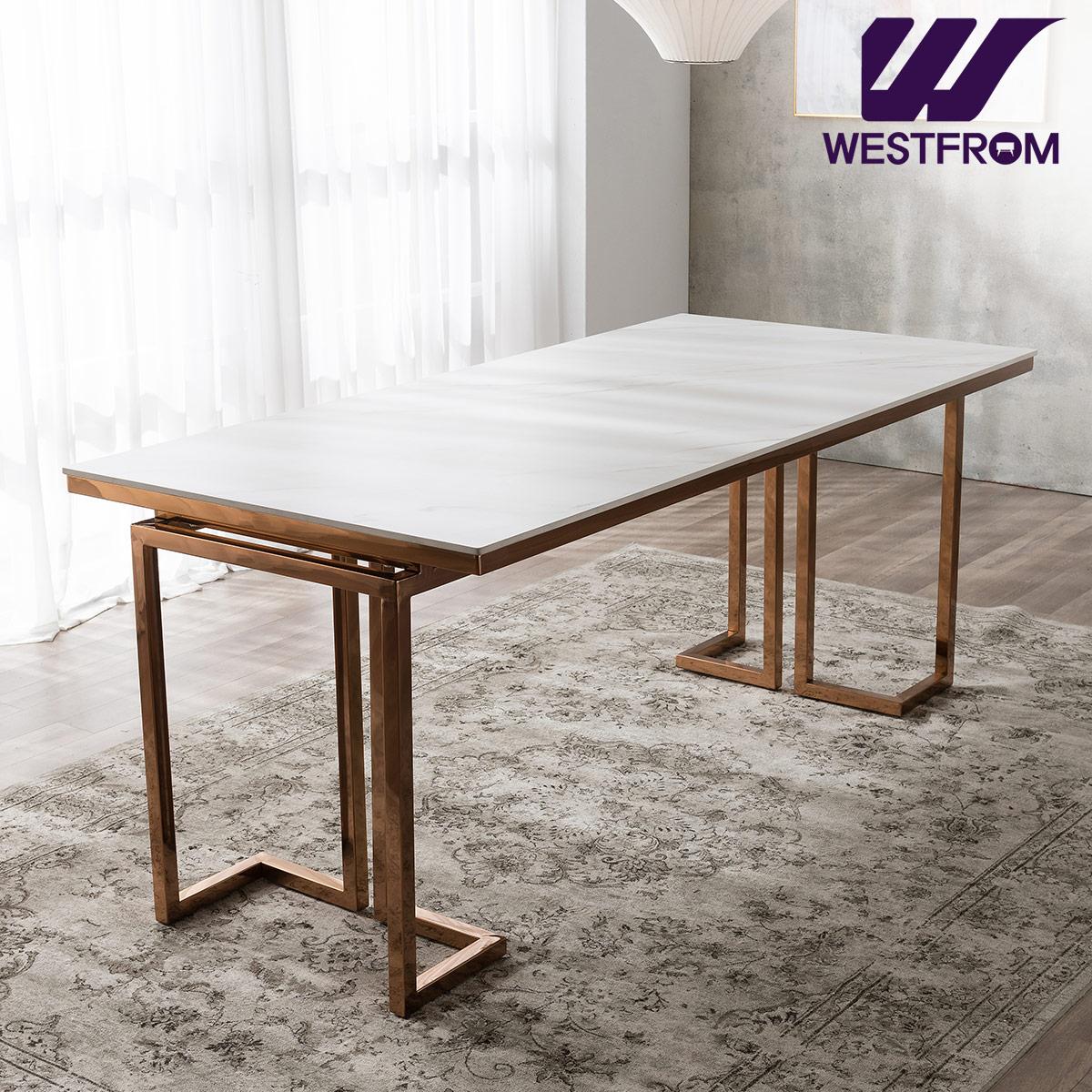 [웨스트프롬] 르노블 6인 포세린 세라믹 식탁 / 테이블만