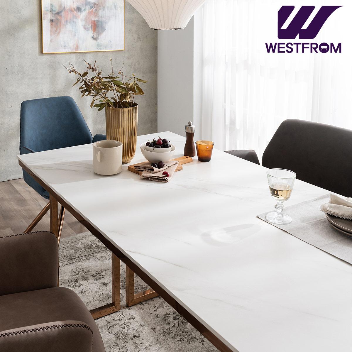 [웨스트프롬] 르노블 4인 포세린 세라믹 식탁 / 테이블만