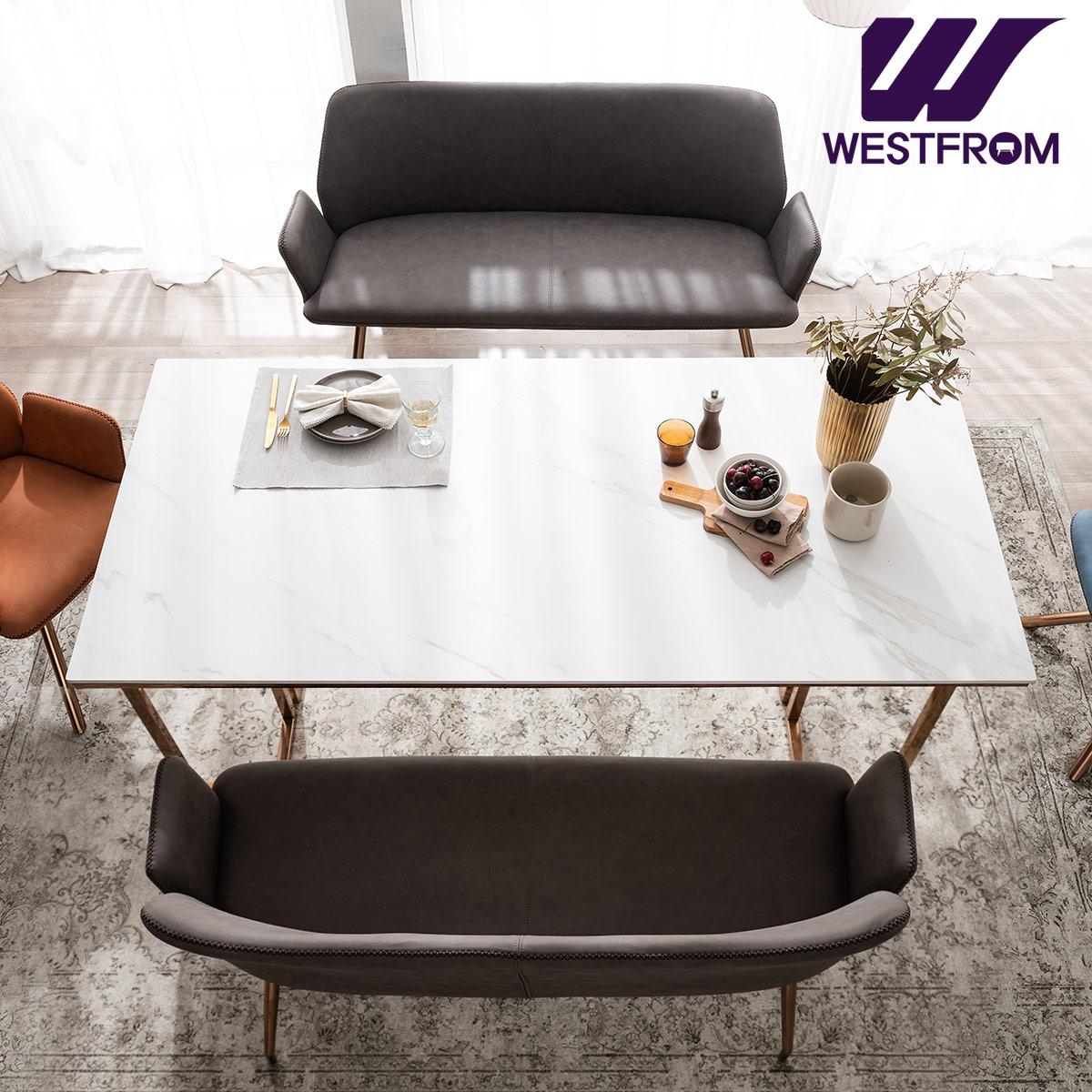 [웨스트프롬] 르노블 4인 포세린 세라믹 식탁 + 벤치 2개