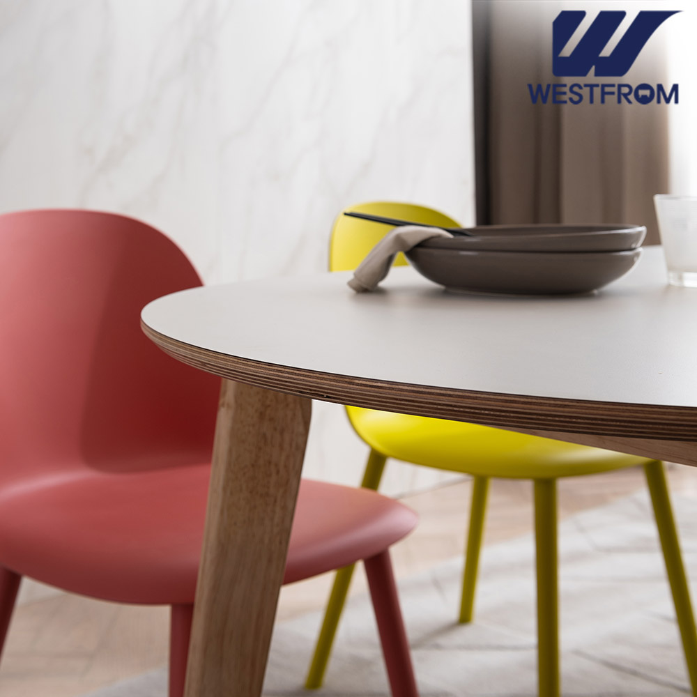 [웨스트프롬] 모던 에스메랄다) 800 원목 원형 테이블(식탁)