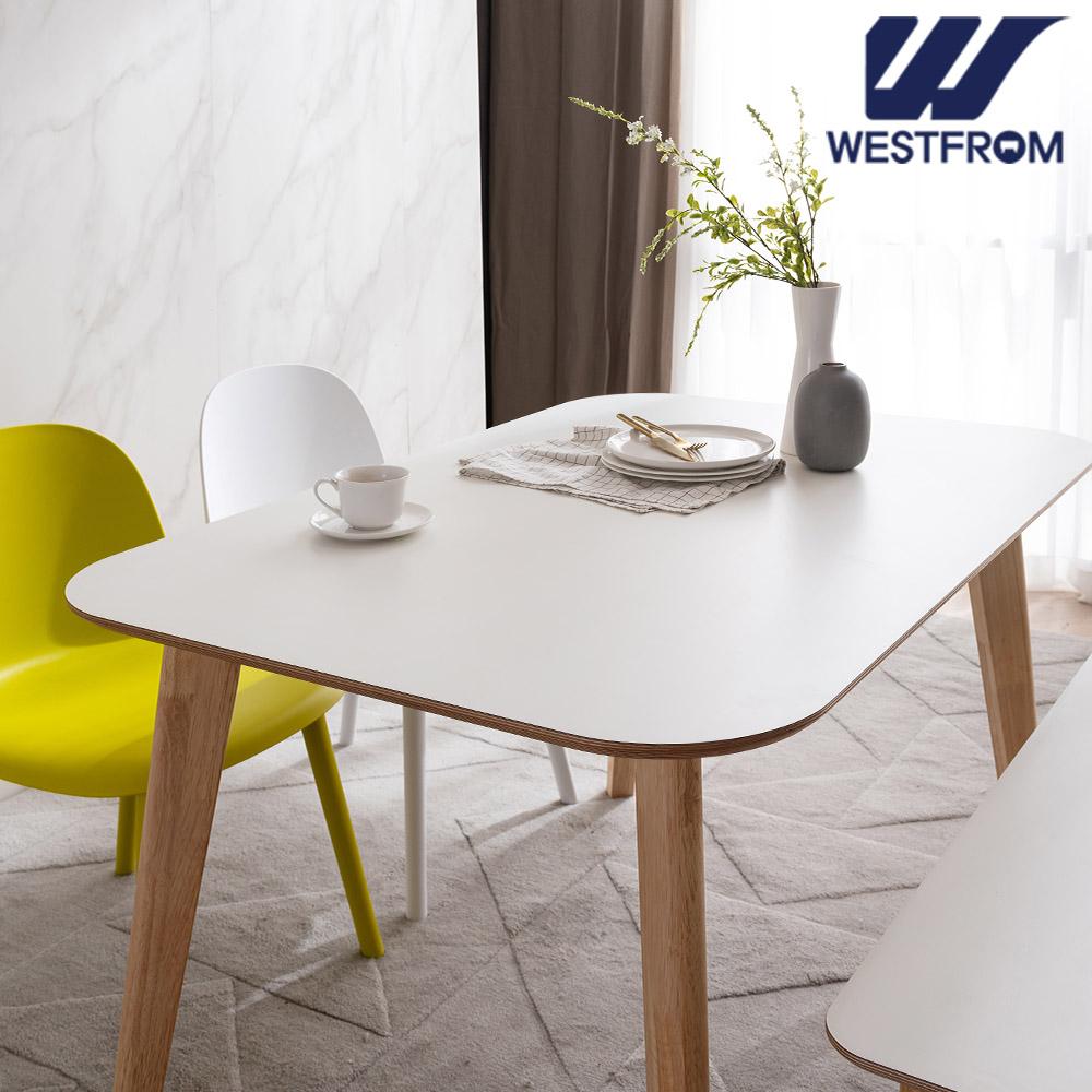 [웨스트프롬] 모던 에스메랄다) 1800 원목 라운드 테이블(식탁) + 체어 4개