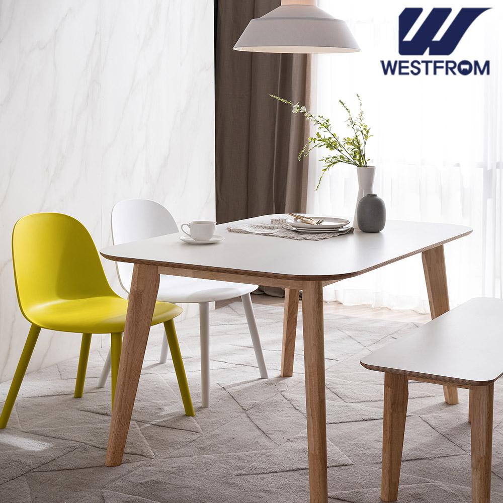 [웨스트프롬] 모던 에스메랄다) 1800 원목 라운드 테이블(식탁) + 벤치 2개