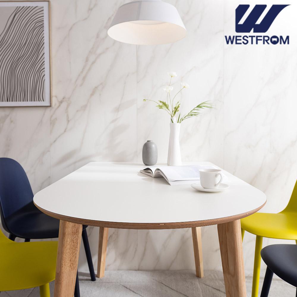 [웨스트프롬] 모던 에스메랄다) 1800 원목 반타원 테이블(식탁)