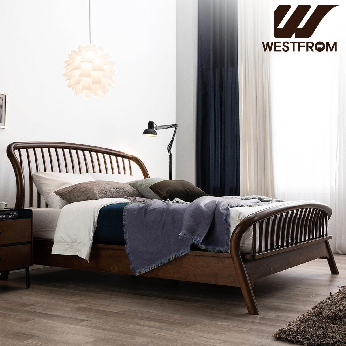 [웨스트프롬] 빈티지 두오모) 원목 평상형 침대(퀸) / 텐더 호수 매트리스 / 전국착불