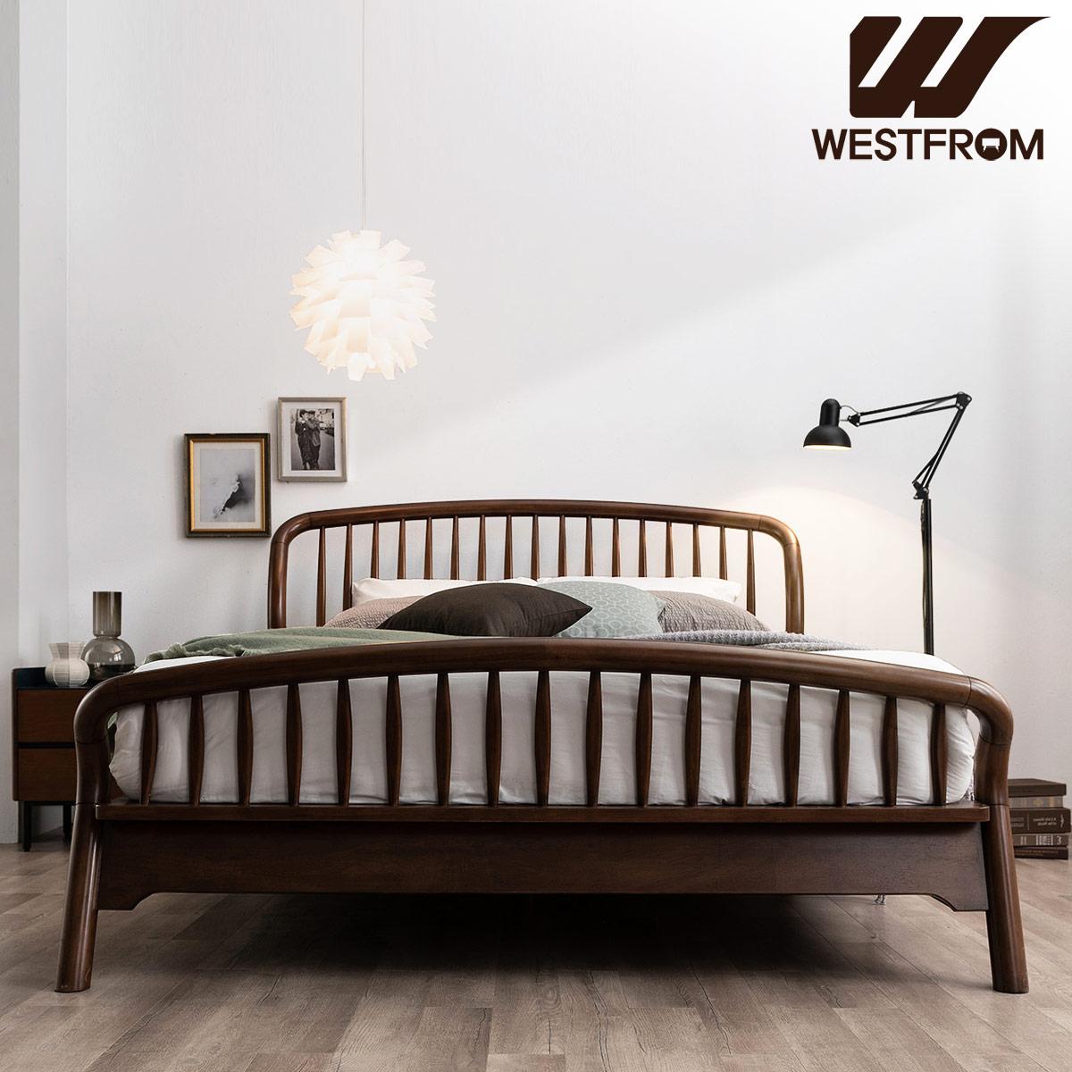 [웨스트프롬] 빈티지 두오모) 원목 평상형 침대(퀸) / 텐더 리버 매트리스 / 전국착불