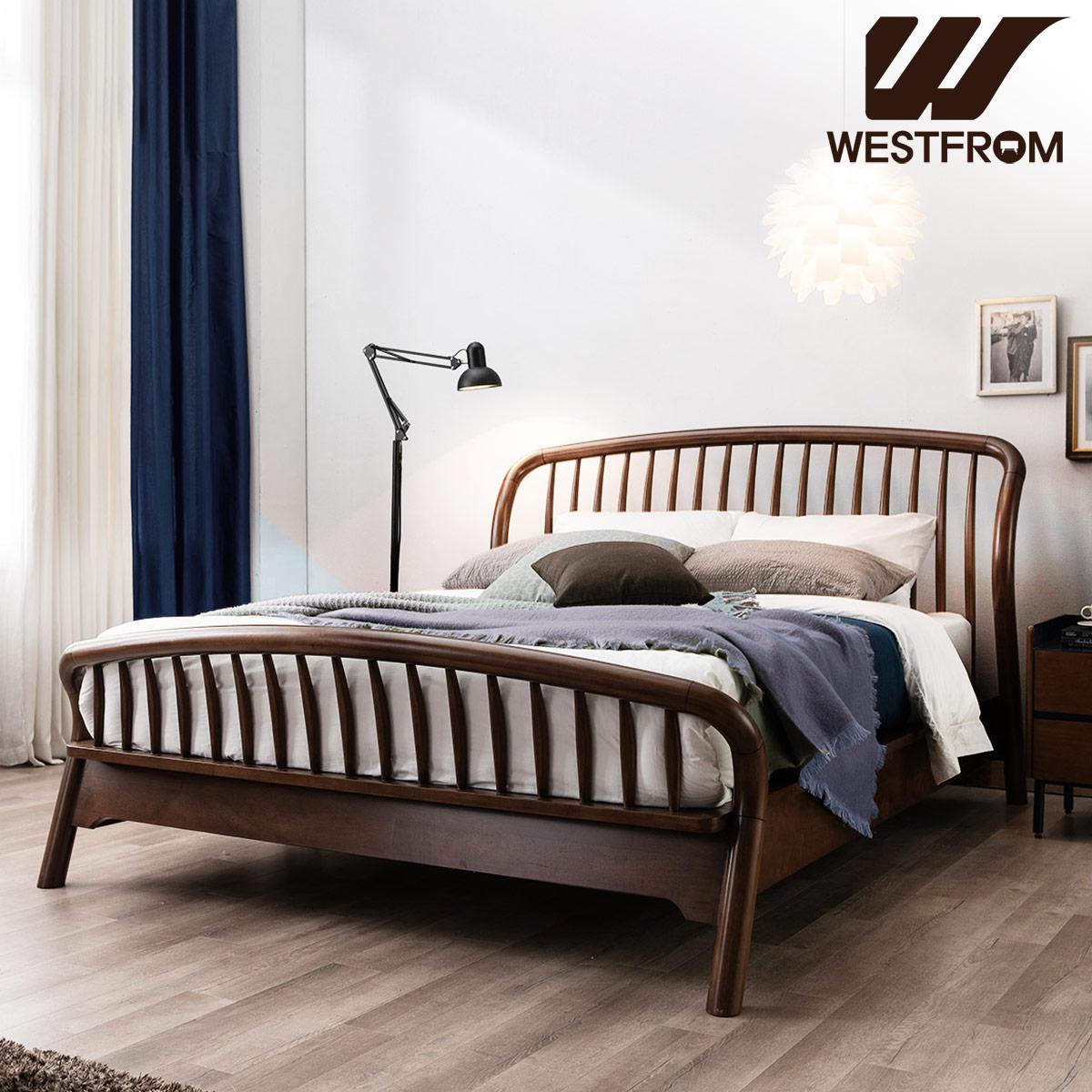 [웨스트프롬] 빈티지 두오모) 원목 평상형 침대(퀸) / 텐더 바다 매트리스 / 전국착불