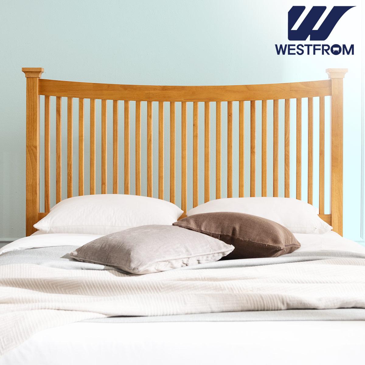[웨스트프롬] 모던 마가렛) 고무나무원목 평상형 침대(Q,K공용) / F17 QUEEN 매트리스