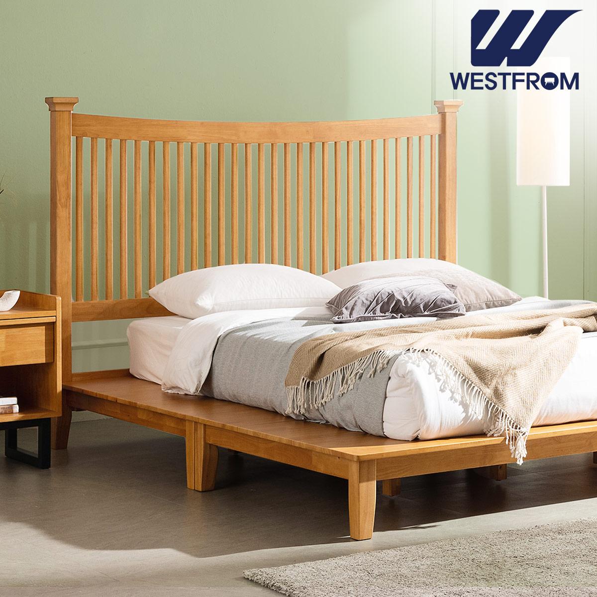 [웨스트프롬] 모던 마가렛) 고무나무원목 평상형 침대(라지K) / F3 QUEEN 매트리스