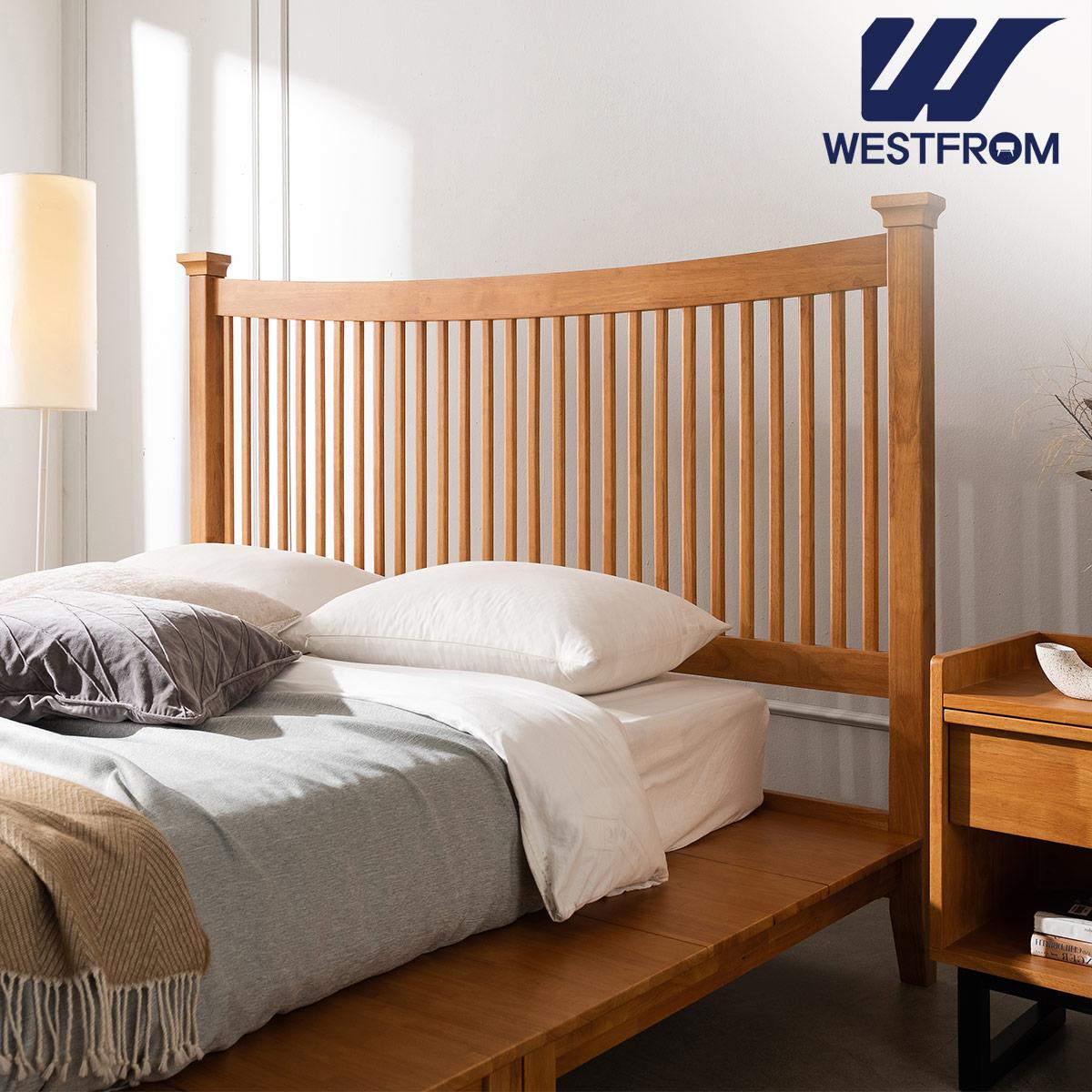 [웨스트프롬] 모던 마가렛) 고무나무원목 평상형 침대(라지K) / F17 QUEEN 매트리스