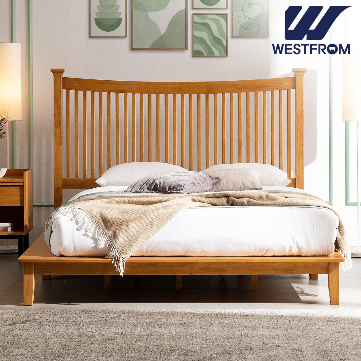 [웨스트프롬] 모던 마가렛) 고무나무원목 평상형 침대(라지K) / F17 라지KING 매트리스